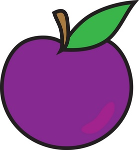 Plum Clipart Black And White