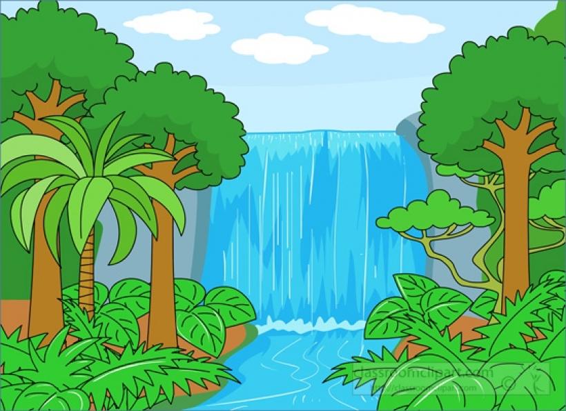 PNG rain forest clip art .