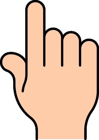 pointing finger clip art