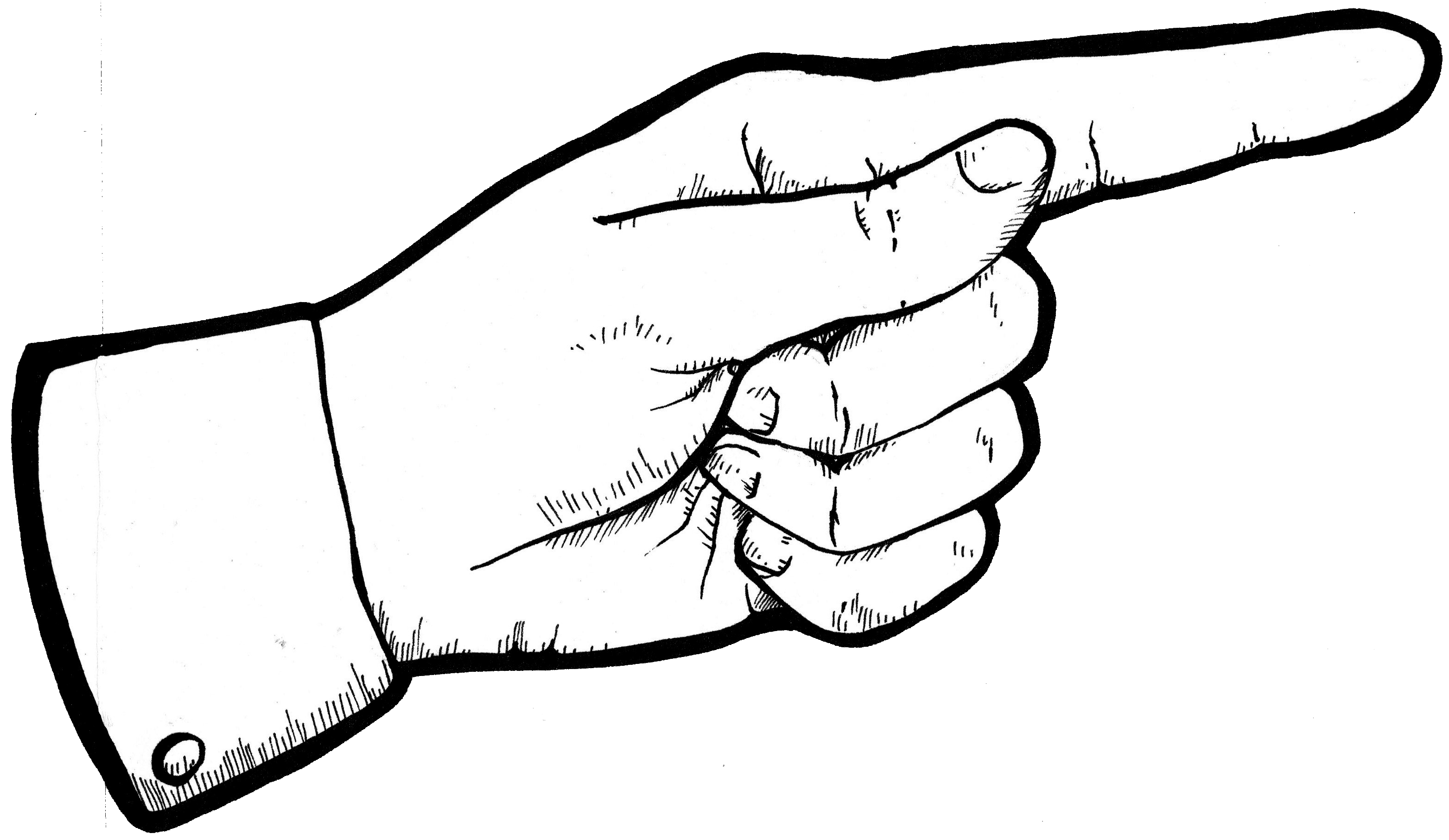 pointing finger clipart