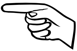 Pointing finger clip art download