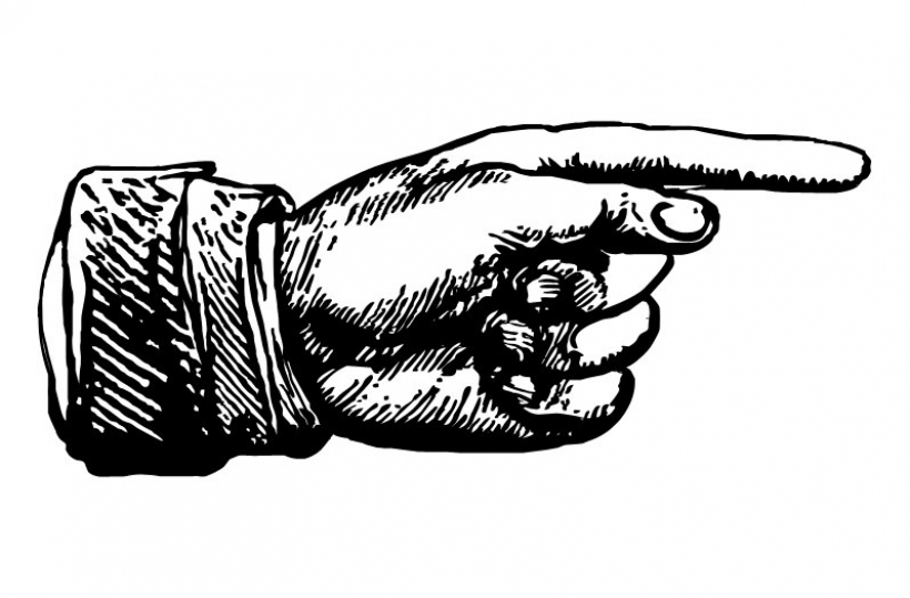 Clipart hand pointing finger pointer