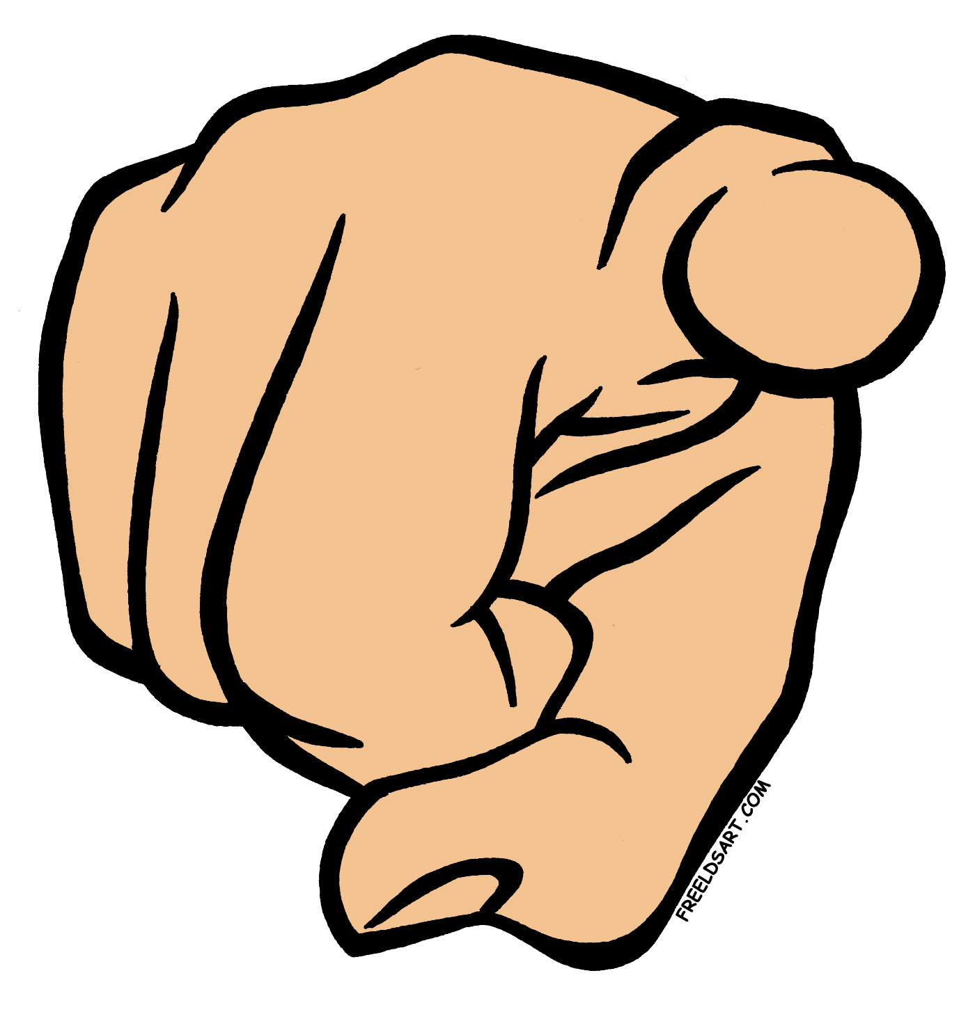 Me Pointing Finger Clipart #1
