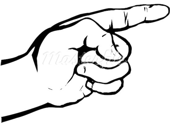 Pointing finger pointing hand clip art