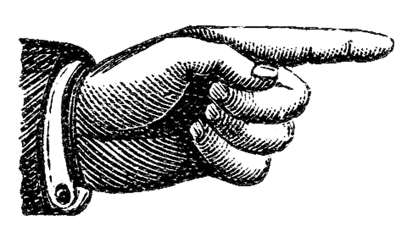 Pointing finger victorian clip art pointing hands steampunk the graphics fairy