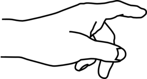 Pointing Hand Clipart .