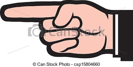 ... pointing hand (point finger)