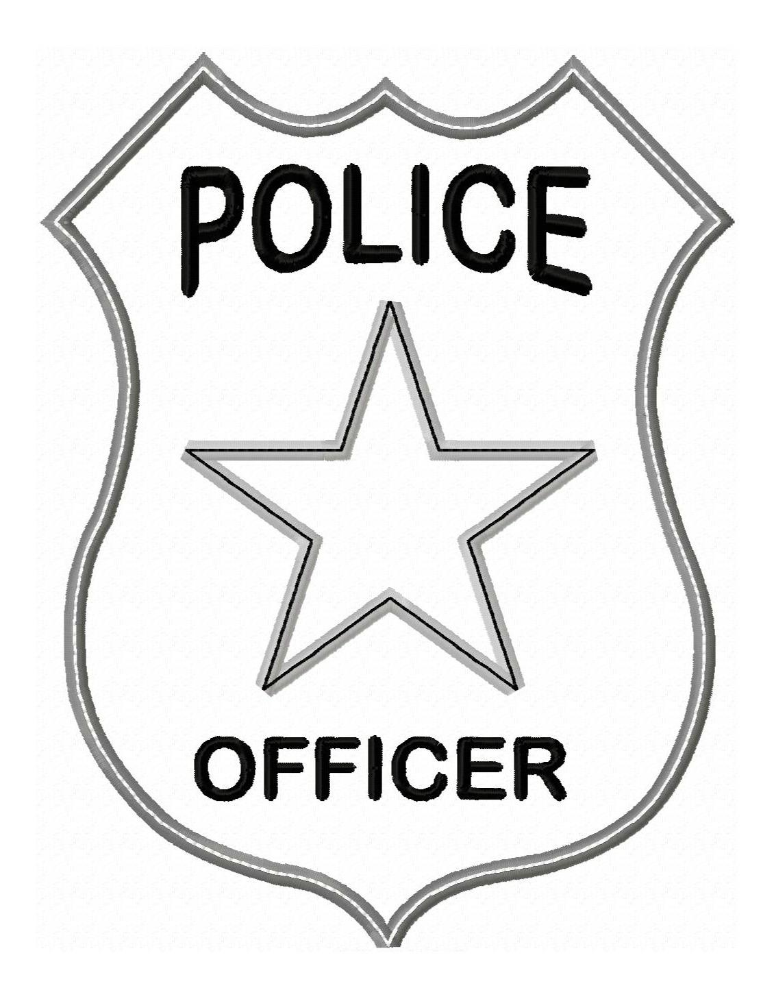 Police Badge Applique
