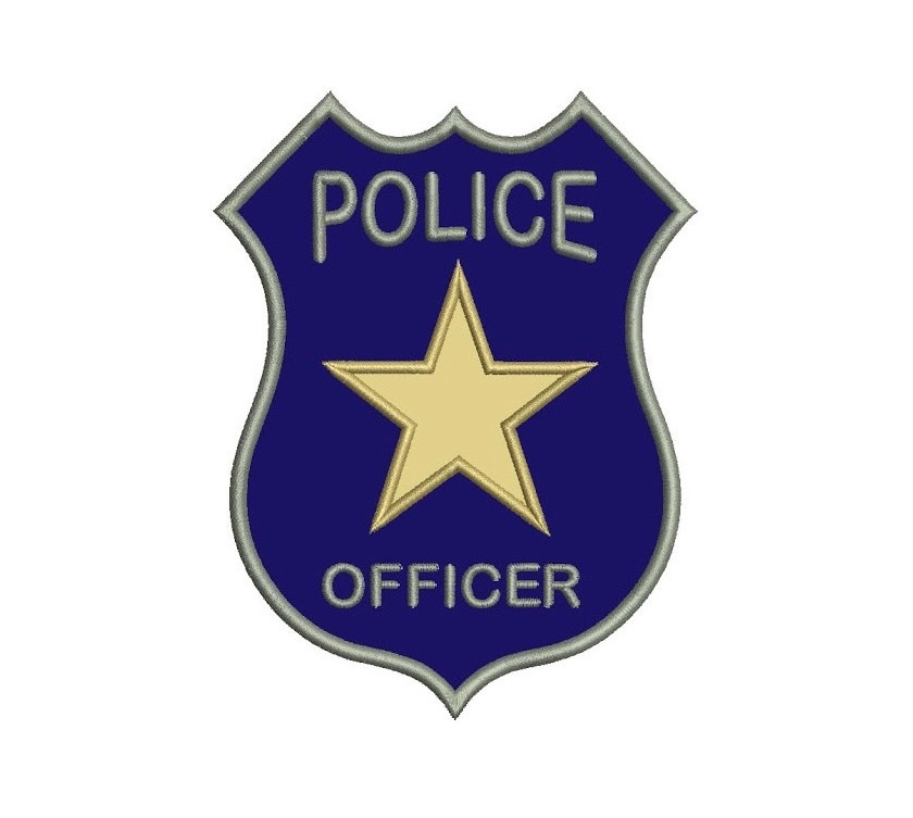 Police badge for kids coloring pages for and adults cliparts