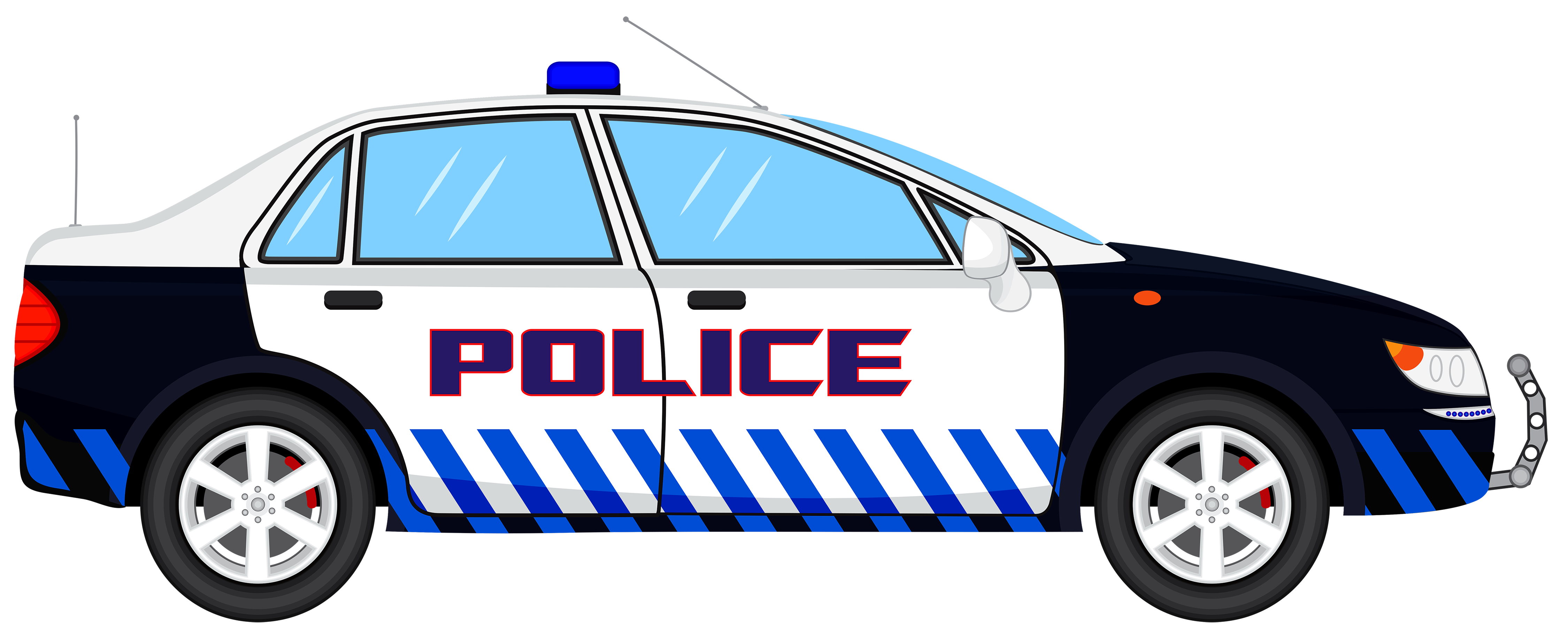 Police car transparent clip art image