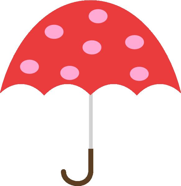 Polka Dot Umbrella Clip Art At Clker Com Vector Clip Art Online
