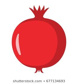 Pomegranate design juicy fresh fruit icon vector template. Raw pomegranate