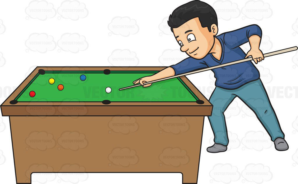 A man playing billiards
