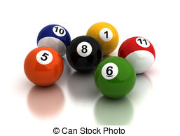 . ClipartLook.com Pool Game Balls - Billiard ballsl on white background.