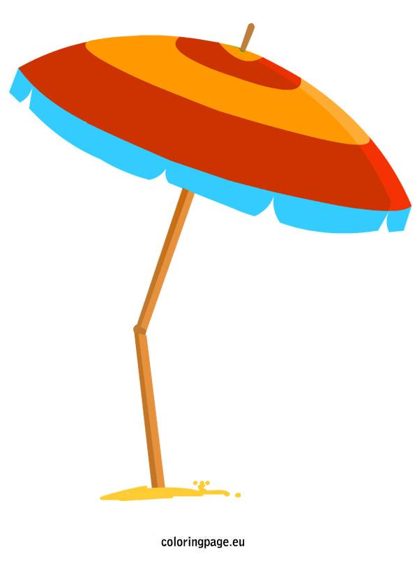 ... Pool Umbrella Clipart; Beach Umbrella | Coloring Page ...