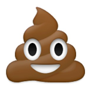 Poop emoji vector clipart