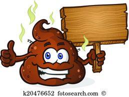 Poop Pile Cartoon Character Thumbs