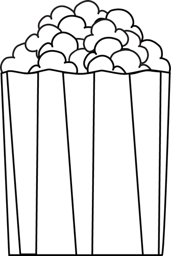 Clip art · Black and White Popcorn
