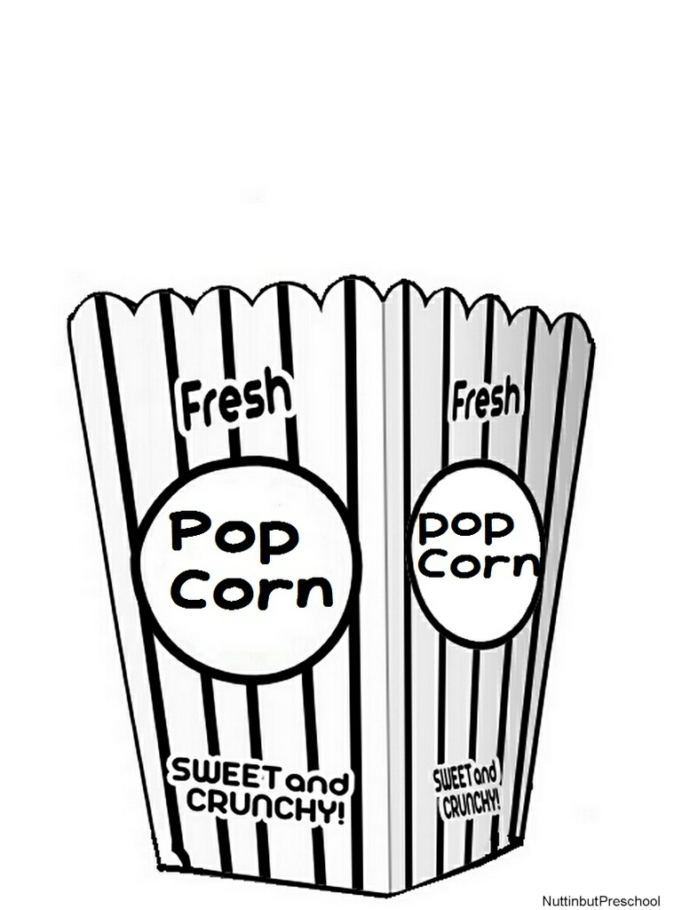 Clip Art Black And White Popcorn Bucket Clipart #1