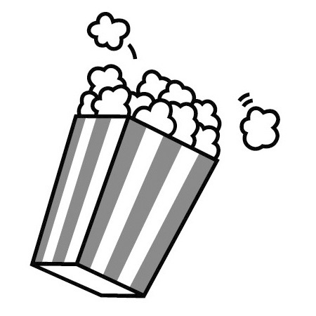 Movie Popcorn Clipart Black And