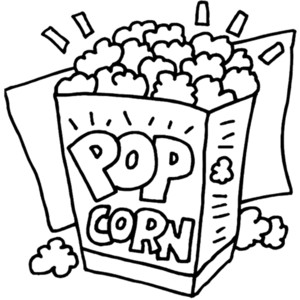 Popcorn Black And White Popcorn Black And White Clipart Hdclipartall