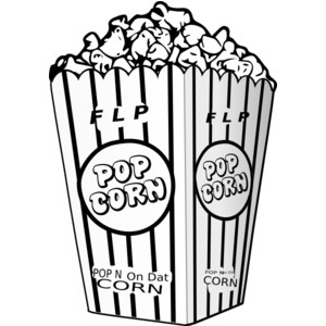 Popcorn black and white popcorn clipart black and white clipart