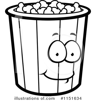 Popcorn clipart outline #1 - Popcorn Clipart Black And White