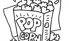 Popcorn silver medal 6 clipart