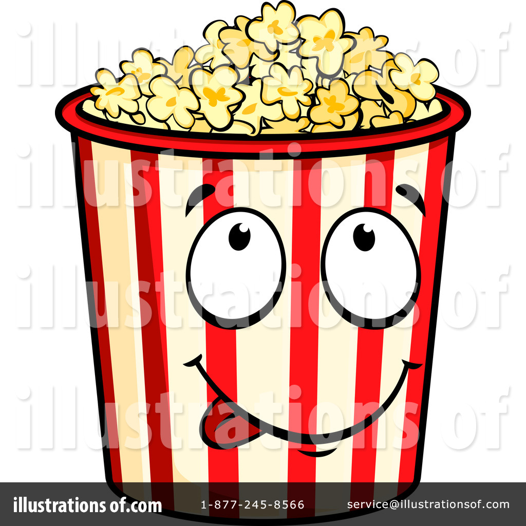 Royalty-Free (RF) Popcorn Clipart Illustration by Vector Tradition SM -  Stock Sample