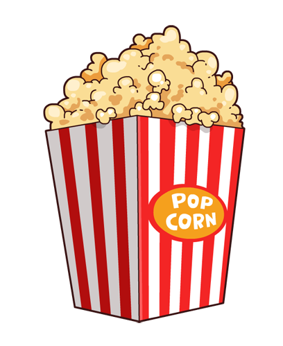 Popcorn free to use clipart