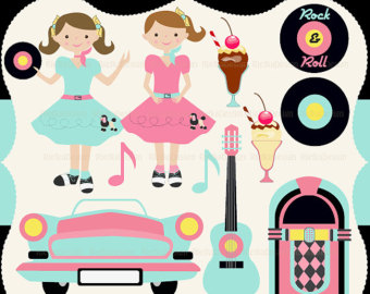 Popular Items For 50s Clipart On Etsy