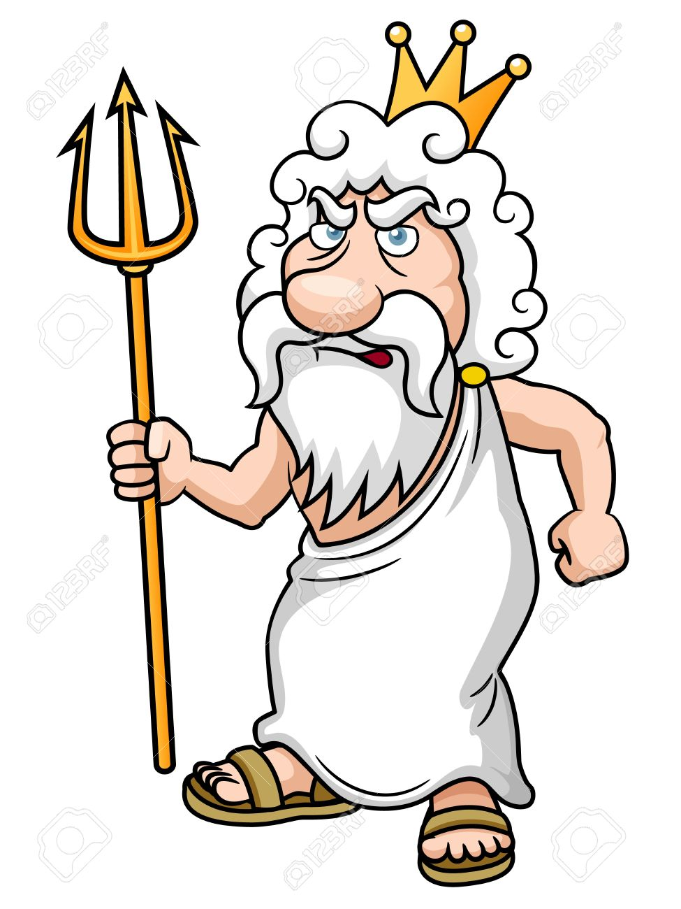 Poseidon with Trident .
