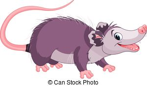 . hdclipartall.com Opossum - Clipart illustration of cute cartoon opossum