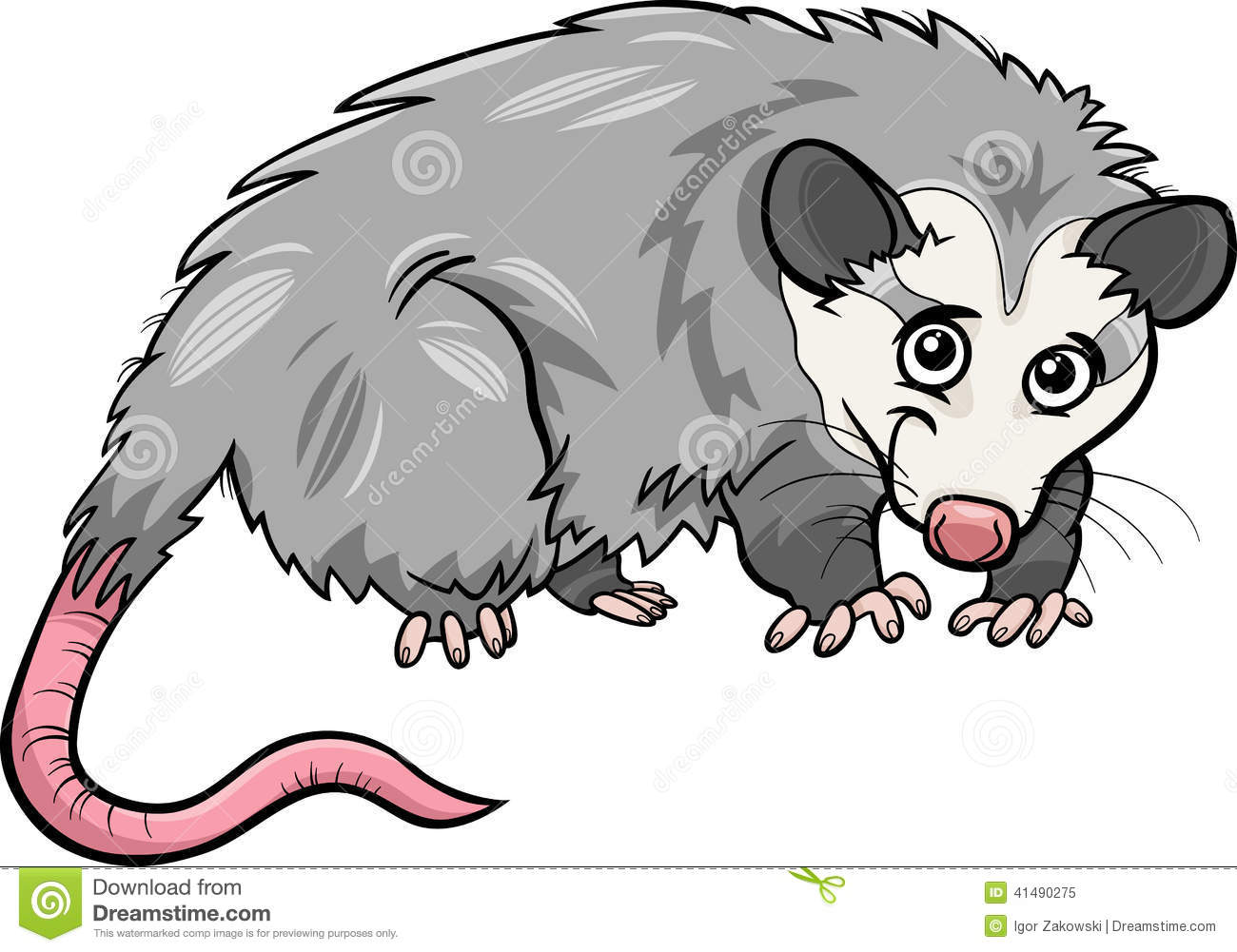 Possum clipart cartoon #1