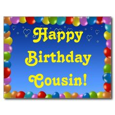 Postcard Happy Birthday Cousin