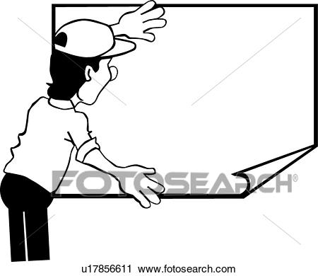 Clipart - Poster Hanger . Fotosearch - Search Clip Art, Illustration  Murals, Drawings And