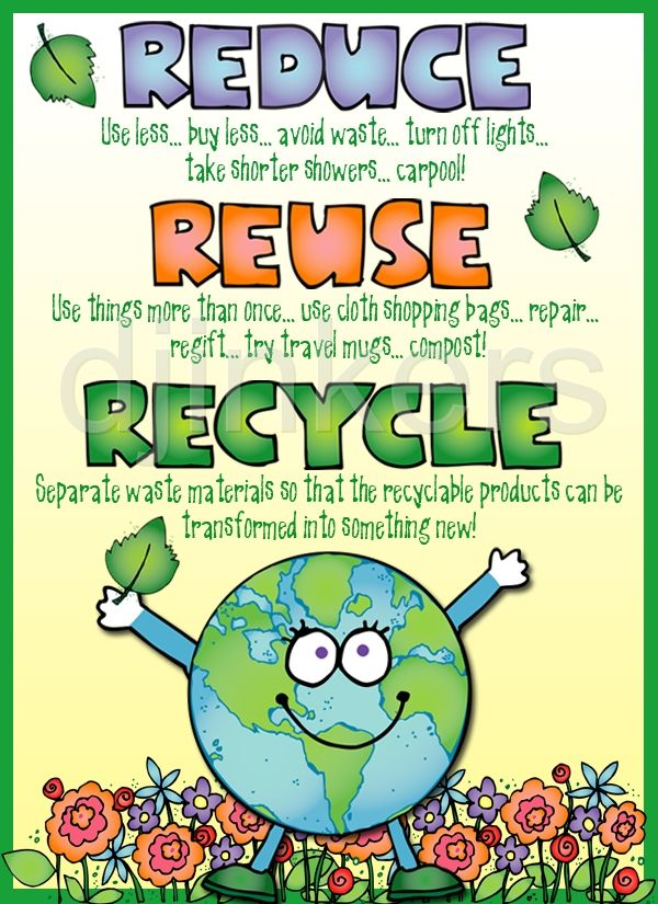 Reduce, Reuse, Recycle poster - Poster Clipart