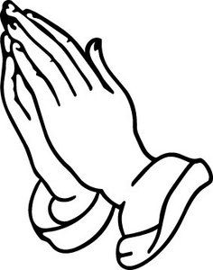 An outline of praying hands can be used in different types of arts  depending with the
