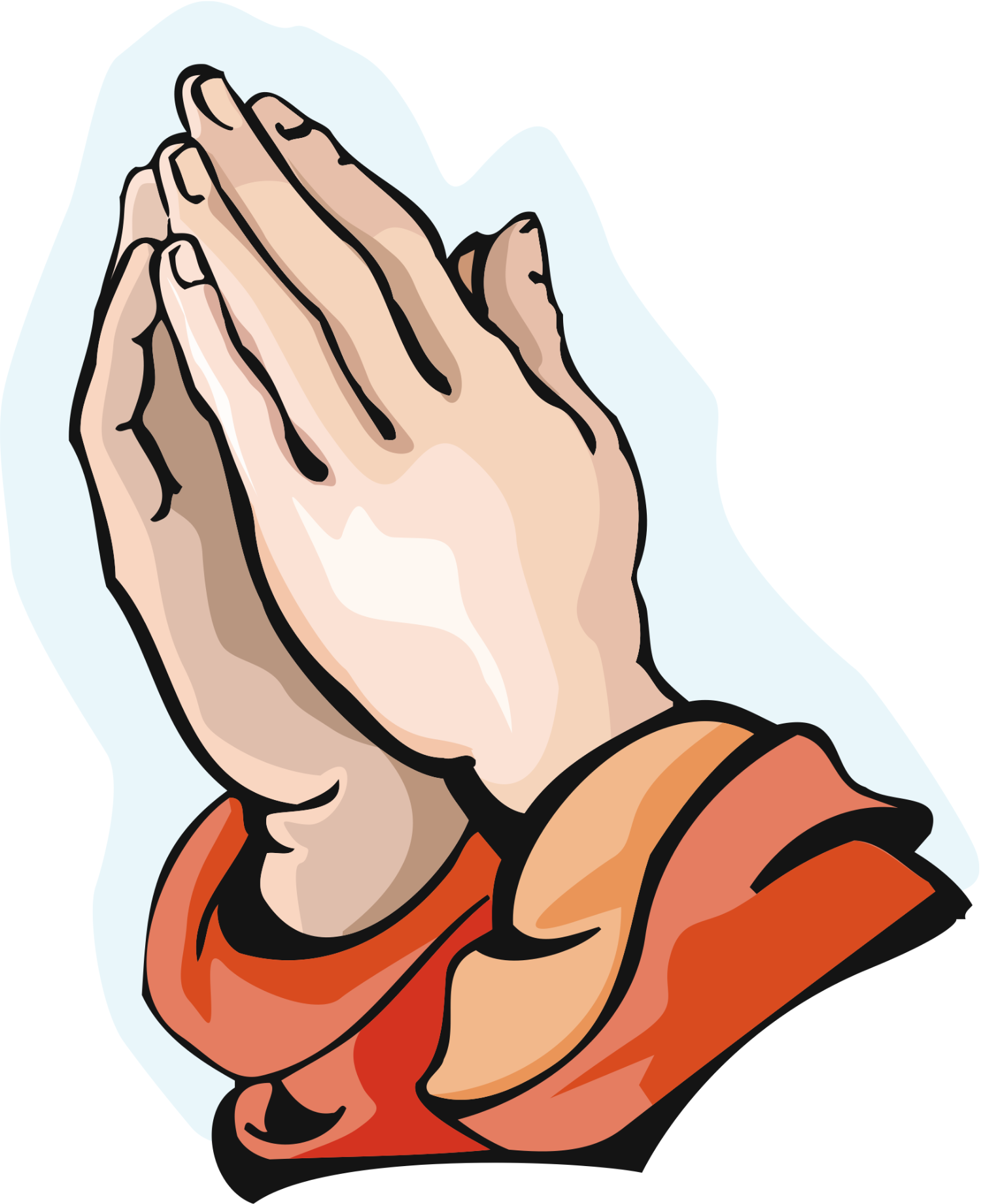 Cartoon Prayer Hands - Clipart library