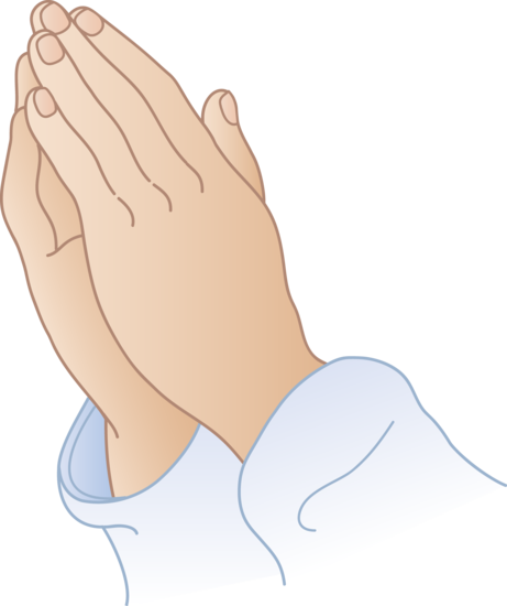 Cartoon Praying Hands Clipart #1