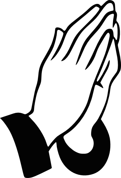 Man Praying Hands Clipart #1