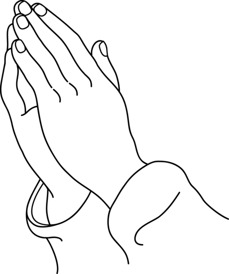Praying hands clipart 9