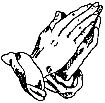 Praying Hands Clipart Black And White - Gallery
