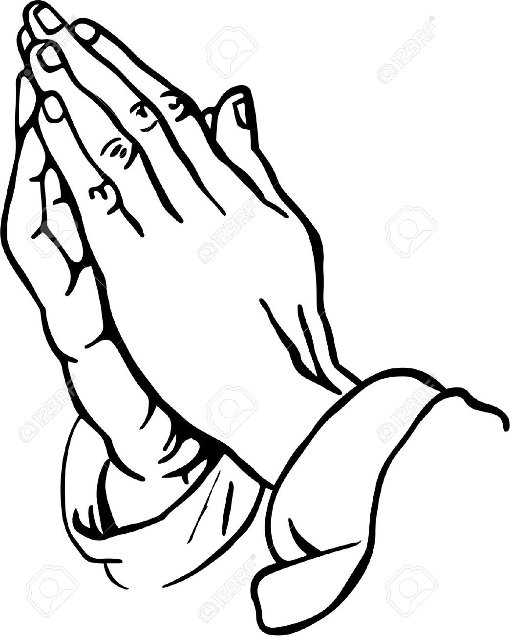 Praying Hands Clipart Stock Photo - 30674437
