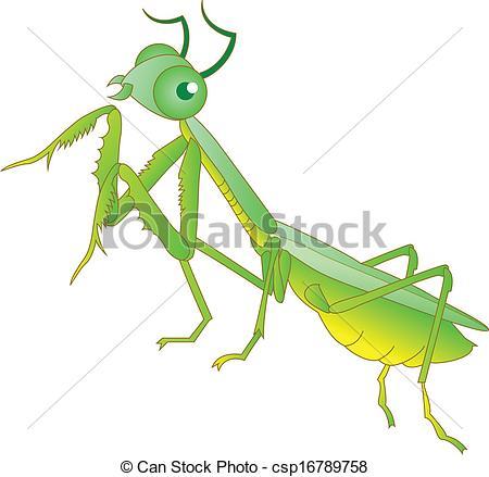 ... Praying mantis grasshopper cartoon
