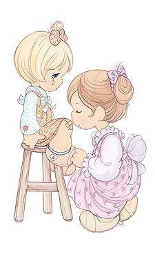 precious moments photo: Precious Moments www.preciousmoments clipartall.com blessing_mother2.jpg