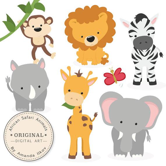 Premium African Safari Animals Clip Art u0026amp; Vectors - Safari Animals Clipart, Safari Animal Vectors