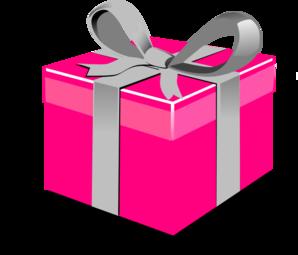 Pink Present Box Clip Art