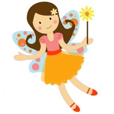 pretty garden fairy clipart illustration graphics