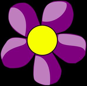 Pretty Purple Flower Clip Art. pink and purple flower% .